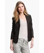 NWT VINCE Black Leather Blazer Jacket Size 2 $1,085 - $349.99