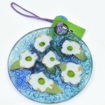 Dogwood Spring Flower Fused Art Glass Ornament Sun Catcher Handmade Ecuador image 2