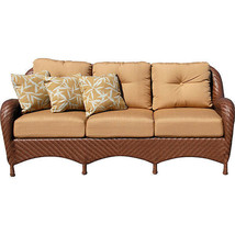 Nice Outdoor Hand Woven Grand Islands Estates Sofa w/Pillows,82''L - $1,876.05