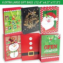 24 Christmas Gift Bags Assorted sizes with 60-Count Christmas Gift Tags(Bulk Set image 3