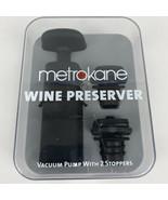 Metrokane Wine Preserver - Vacuum Pump with 2 Stoppers  - $14.00