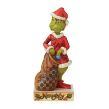 """Grinch Two-Sided Naughty/Nice Jim Shore Grinch Collection Figurine 8.25"""" High image 2"""