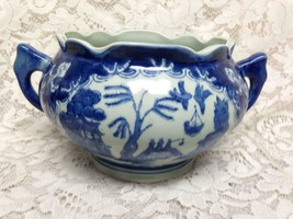 Vintage, Rare, Ironstone, Blue Willow Centerpiece Bowl 4.5in Hx7in Wx6.5... - $118.70