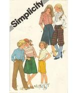 1981 Childs Knickers Bermudas Culottes Straight Leg Pants Skirt Sew Patt... - $11.99