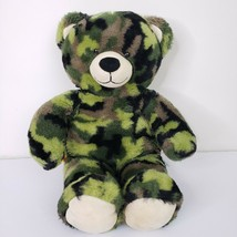 Build a Bear Teddy Plush Green Jungle Camo  Stuffed Animal Camouflage BA... - $18.59
