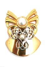Handcrafted Artisan Jane Signed 1997  Aol Angel Pearl Head & Heart - $41.26
