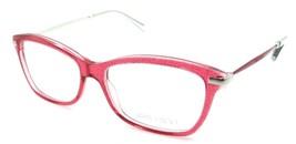 Jimmy Choo Rx Eyeglasses Frames JC 93 VQX 52-15-140 Red Glitter Made in Italy - $78.79