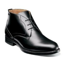 Florsheim Midtown Waterproof Plain Toe Chukka boot Black Leather 12156-001 - $118.79