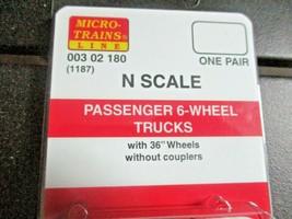 Micro-Trains Stock # 00302180 (1187) Passenger 6-Wheel Trucks No Couplers (N) image 2