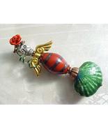 Mermaid Ornament Christmas Tree Day of the Dead La Sirena Skull Skeleton... - $28.88