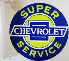 "Super Chevrolet Service Flange Sign 12"" Diameter - $75.00"