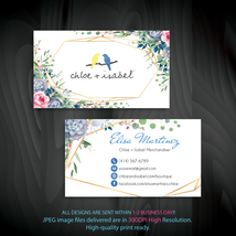 Watercolor Chloe and Isabel Business Card, Chloe and Isabel Business Car... - $9.00