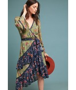 NWT $395 ANTHROPOLOGIE WILLISTON FLORAL PRINTED WRAP DRESS by LOVE SAM XS - $189.99