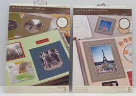 2 Martha Stewart Photo Mat Picture Frame Boards Scrapbooking Crafts Lot NEW - $14.50