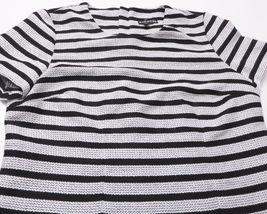 NEW EXPRESS Womens SHIRT TOP Size Medium Black White Zipped Back image 4