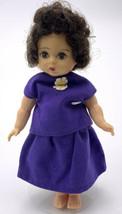 VINTAGE MADAME ALEXANDER KINS 8' ALEX DOLL IN Purple Outfit Wendy Brunet... - $59.40