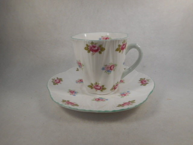 Vintage Shelley Demitasse Rosebud China Cup and Saucer 27210