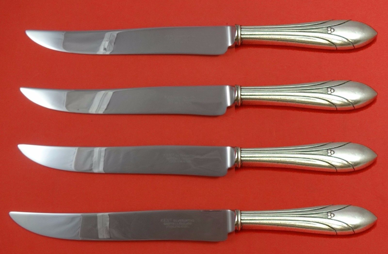 Primary image for Elsinore by International Sterling Steak Knife Set 4pc Large Texas Sized Custom