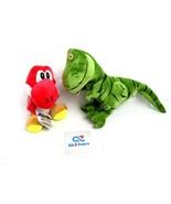 New Super Mario Bros. Red YOSHI Plush Doll Soft Toy + Green T-Rex Dinosaur - $19.75