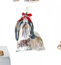 Katherine's Collection Puppy Dog Shiz Tzu or Lhasa apso glass ornament 2... - $17.99