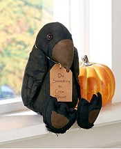 The Lakeside Collection Primitive Halloween Stuffed Crow Shelf Sitter - $23.86