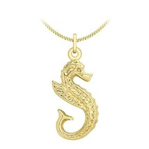 Carissima Gold 9 ct Yellow Gold with Seahorse Pendant on Curb Chain Neck... - $273.00