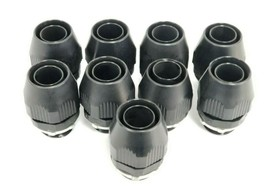 LOT OF 9 NEW THOMAS & BETTS FNMC-B ONLY LIQUID TIGHT BLACK CONNECTORS 1'' IN.