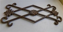 Ornamental Grate Cast Iron Decorative Panel Architectural Salvage Grate ... - $99.00