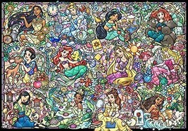 1000 Piece Jigsaw Puzzle Disney Princess Collection Stained Glass [Stained Art] - $109.89