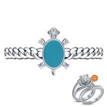 Oval Shape Turquoise White GP Turtle Style of Salman Khan Bracelet & Free Gift - £131.77 GBP
