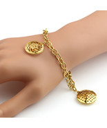 UNITED ELEGANCE Stylish Gold Tone Bracelet With Open Cut Out Designed Ch... - $9.99