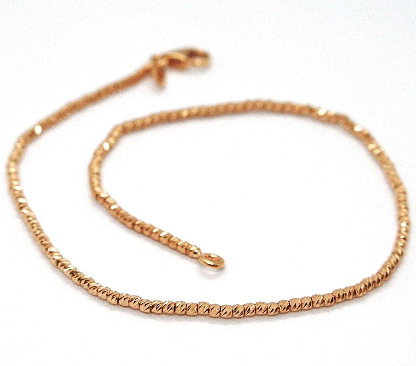 18K ROSE GOLD BRACELET WITH FINELY WORKED SPHERES, 1.5 MM DIAMOND CUT BALLS