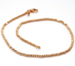 18K ROSE GOLD BRACELET WITH FINELY WORKED SPHERES, 1.5 MM DIAMOND CUT BALLS image 1
