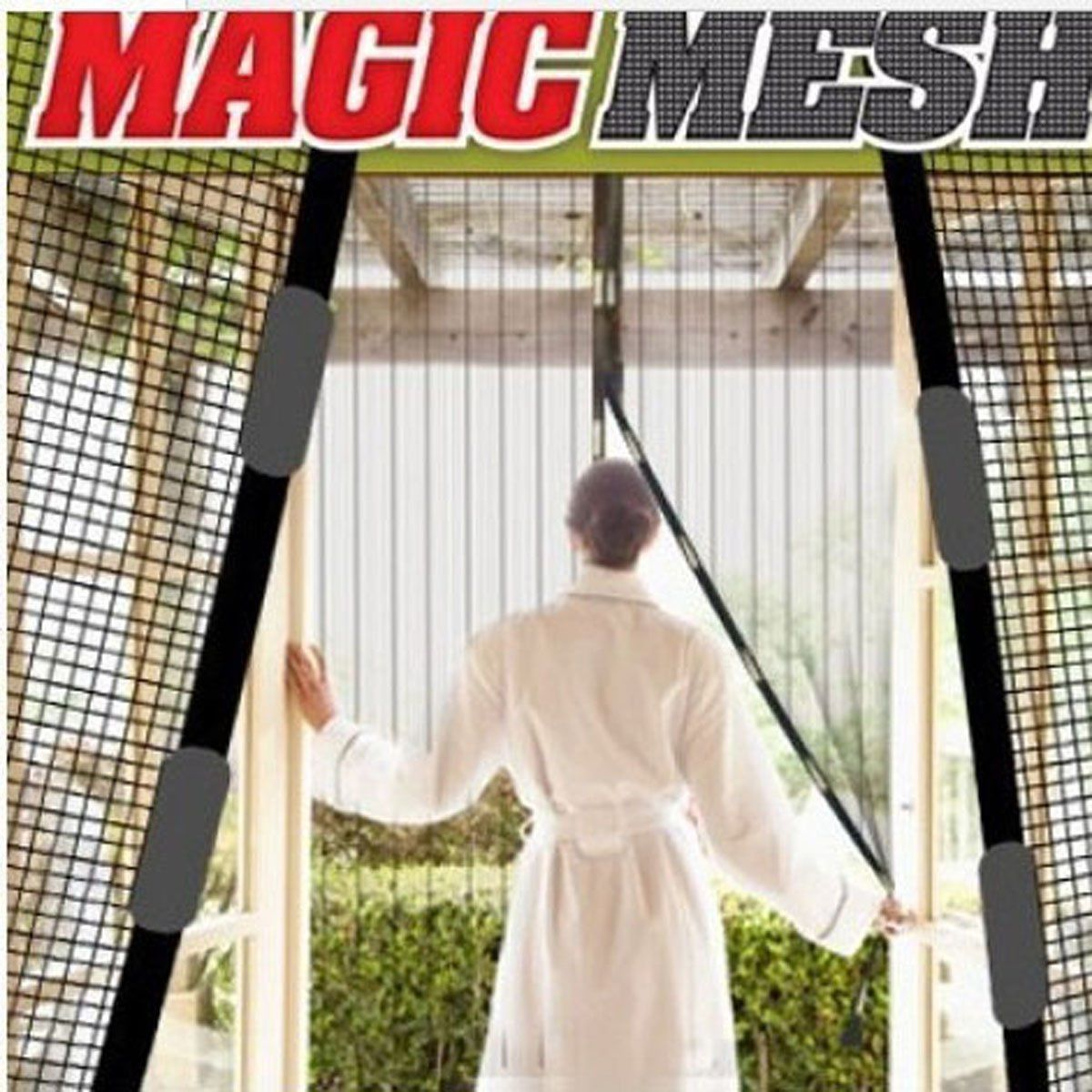 Magic Mesh Hands-Free Screen Net Magnetic Anti Mosquito Bug Door Curtain RVing
