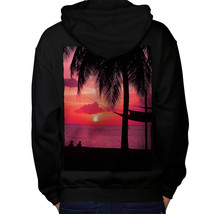 Romantic Sunset Sweatshirt Hoody Beach Palm Tree Men Hoodie Back - $20.99+