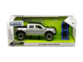 2011 Ford F-150 SVT Raptor Pickup Truck Silver with Matte Black Top Extra Wheels - $44.95
