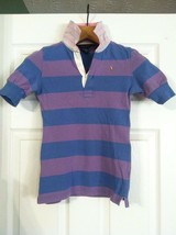 RALPH LAUREN TEENAGE GIRLS PRE-OWNED PURPLE 100%COTTON POLO SHIRT SIZE:M... - $28.20