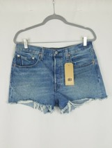 Levis 501 women 31 jeans shorts high rise button fly raw hem - $54.45