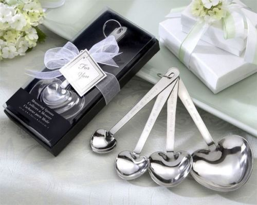 """""""Love Beyond Measure""""  Heart-Shaped Measuring Spoons in Gift Box Set of 12"""
