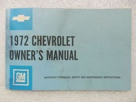 1972 Chevrolet Chevy Caprice Impala Biscayne Bel Air Owners Manual 15989 - $16.82