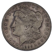 1896-S $1 Silver Morgan Dollar VG, Light Gray Color, Almost Fine! - $49.49