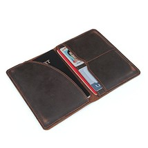 Leather Passport Wallets Holder Passport Cover Case Travel Wallet For Men - $17.80