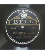 California Syncopators Bell 78rpm Hello Aloha How Are You / Blue Bonnet - $57.60