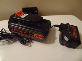 BLACK & DECKER 20V VOLT LITHIUM 2.0AH  BATTERY & CHARGER COMBO SET LBXR2020 - $38.99