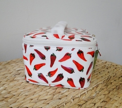 Kate Spade Large Colin Daycation Hot Peppers Cosmetic 2pc Case image 3