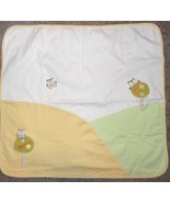 Gymboree Forest Friends Owl Baby Blanket White Yellow Green 2005 2006 Co... - $24.73