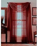"""SHEER VOILE 216"""" WINDOW SCARF BURGUNDY - $12.86"""