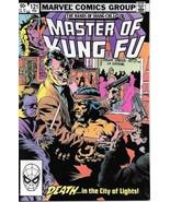 Master of Kung Fu Comic Book #121 Marvel Comics 1982 FINE+ - $2.25