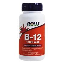 NOW Foods B12 with Folic Acid 1000 mcg., 250 Lozenges - $14.19