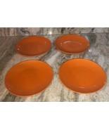 "Royal Norfolk 7 1/2"" Dessert Snack Plates Set Of 4-Orange Thanksgiving H... - $39.08"